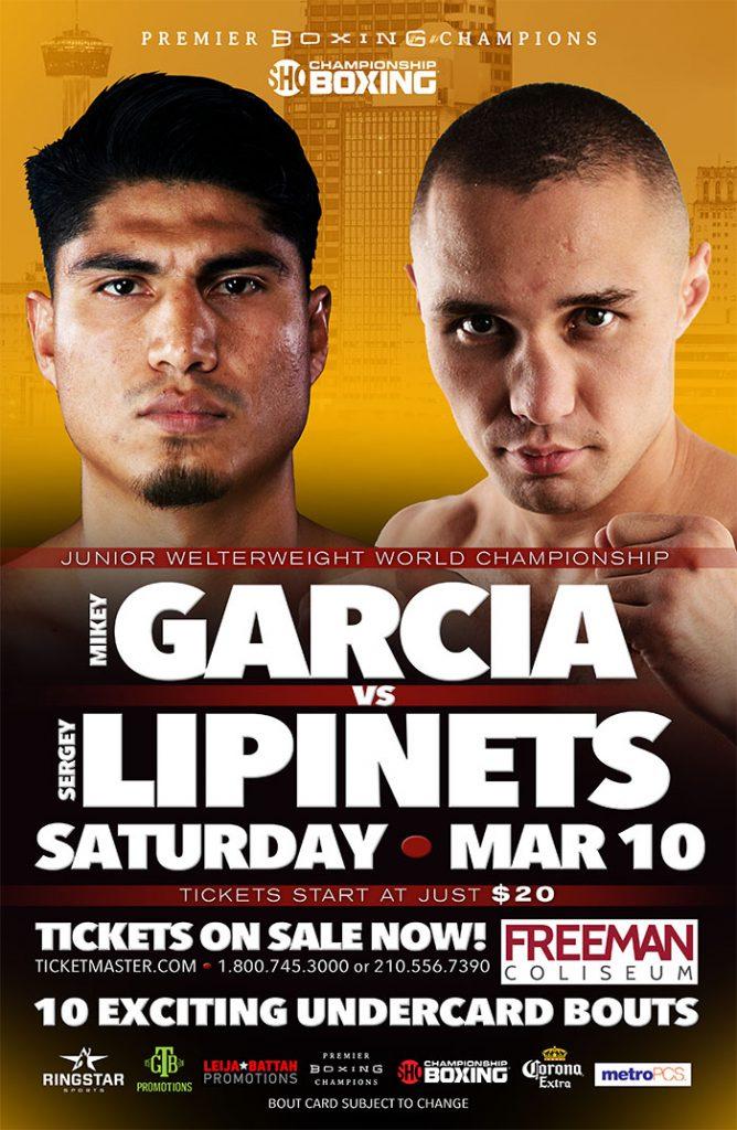 GARCIA vs LIPINETS (Boxing) – March 2018